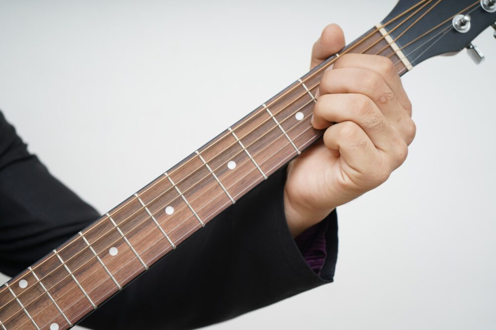 Gitarrenspieler im Alter